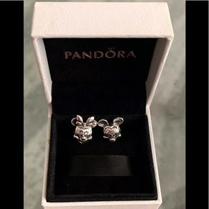 Pandora Disney Minnie And Mikey Sterling Charms